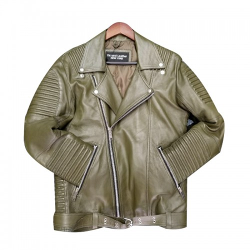 BIKER RIBBLES MEN- OLIVE GREEN