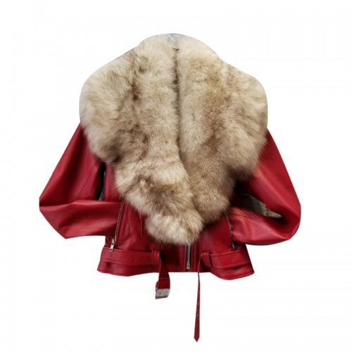 RED-MC STYLE WITH OFF WHITE FOX FUR
