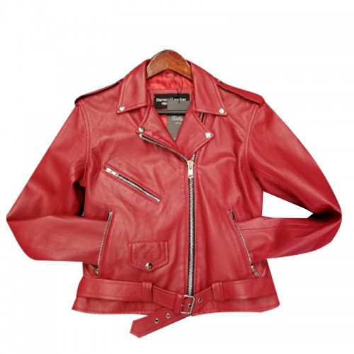 PLAIN RED BIKER- WOMEN