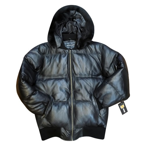 GOOSE DOWN BUBBLE JACKET WITH BLACK FOX
