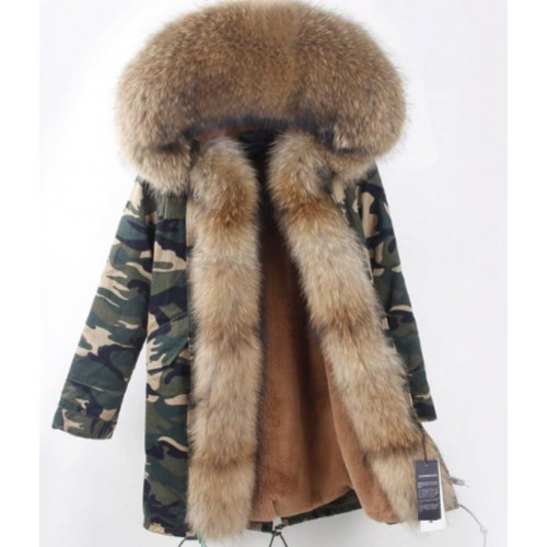 CAMO PARKA WITH NATURAL FOX FUR