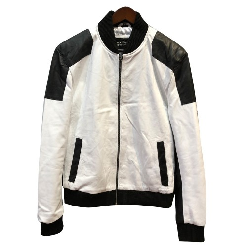 SPRING JACKET- WHITE AND BLACK COMBO