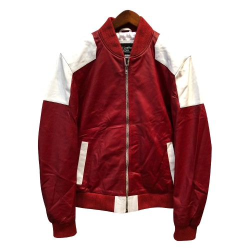 SPRING JACKET- RED AND WHITE COMBO