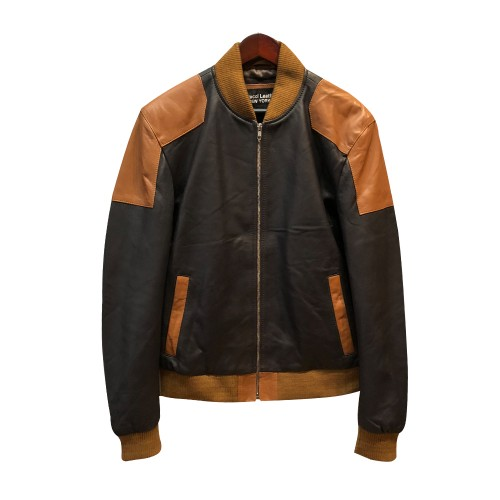 SPRING JACKET- BLACK AND COGNAC COMBO